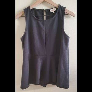 Anthropologie Deletta Black Sleeveless Top Small